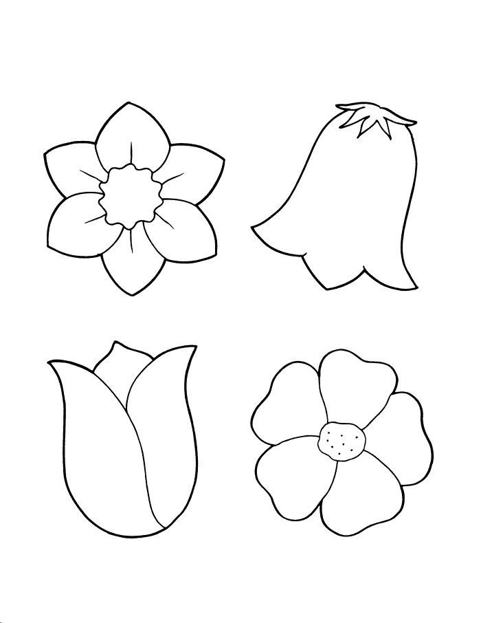 Simple flower template az coloring pages