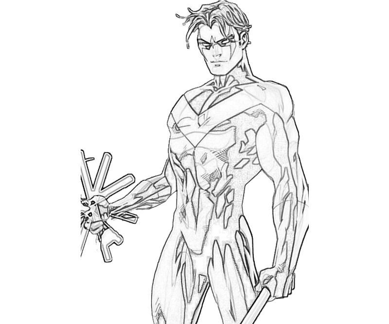 dc comics nightwing coloring pages - photo#9