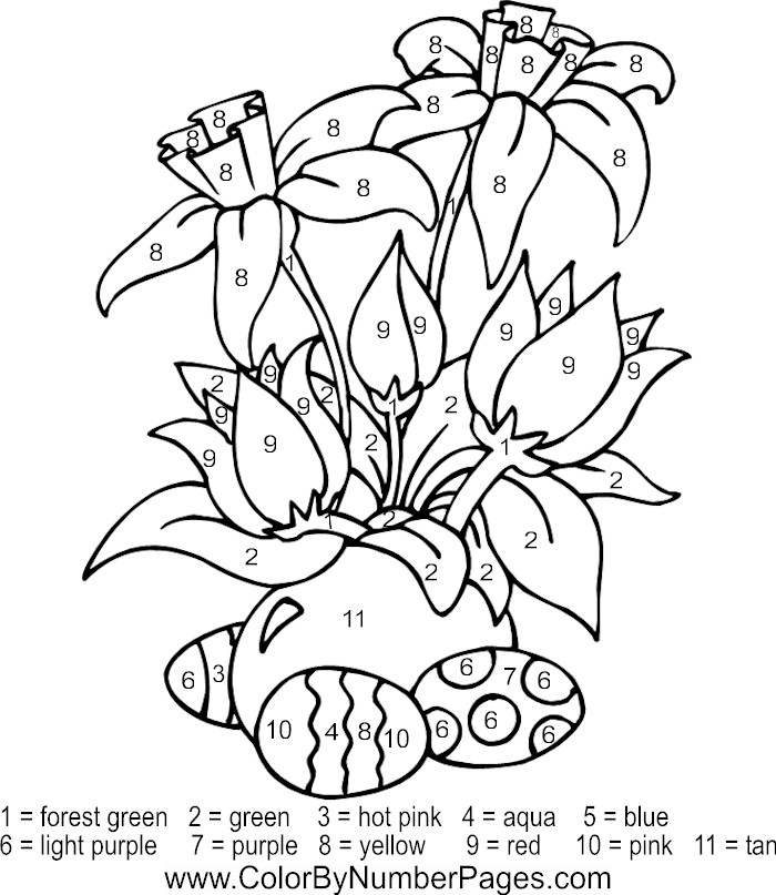 Printable Color By Number Coloring Pages Az Coloring Pages