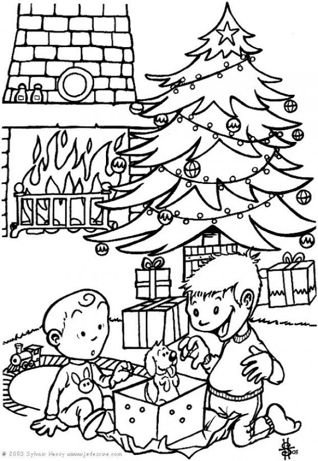 Christmas Tree Drawing - Coloring Home