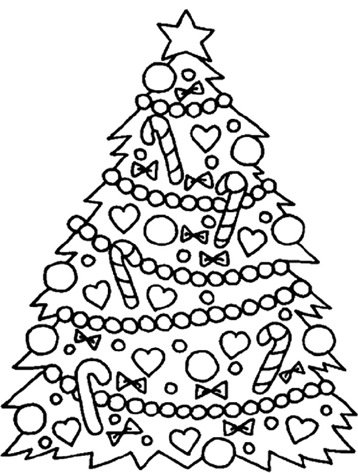 Christmas Tree Ornaments Coloring Pages Az Coloring Pages Tree Decorations Coloring Pages