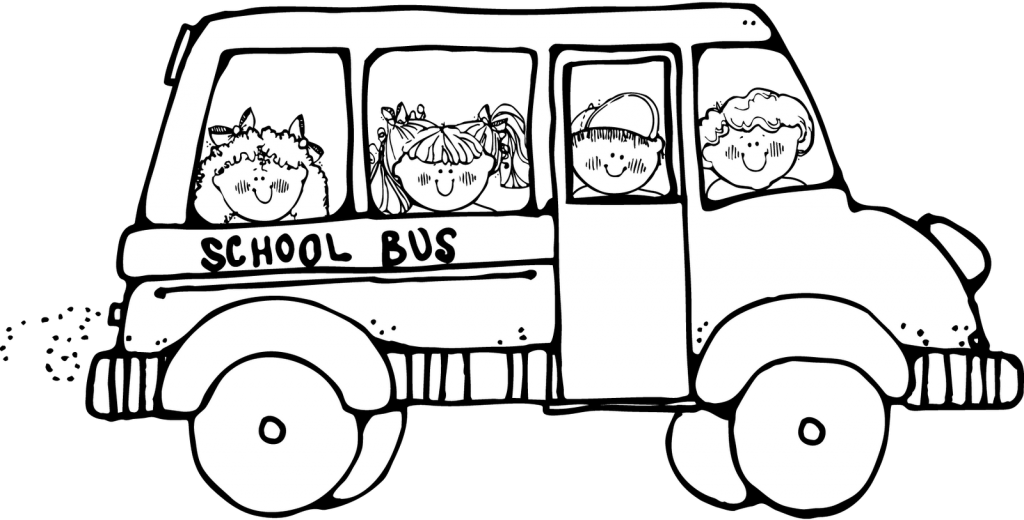School Bus Coloring Page - Coloring Home