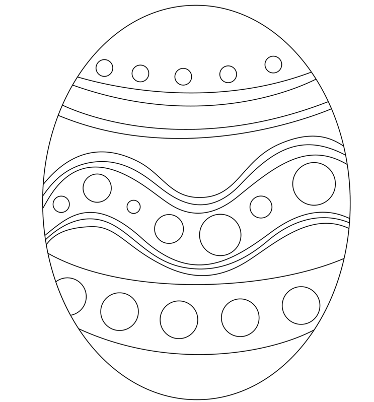 Easter Egg Printable Coloring Page & Coloring Book