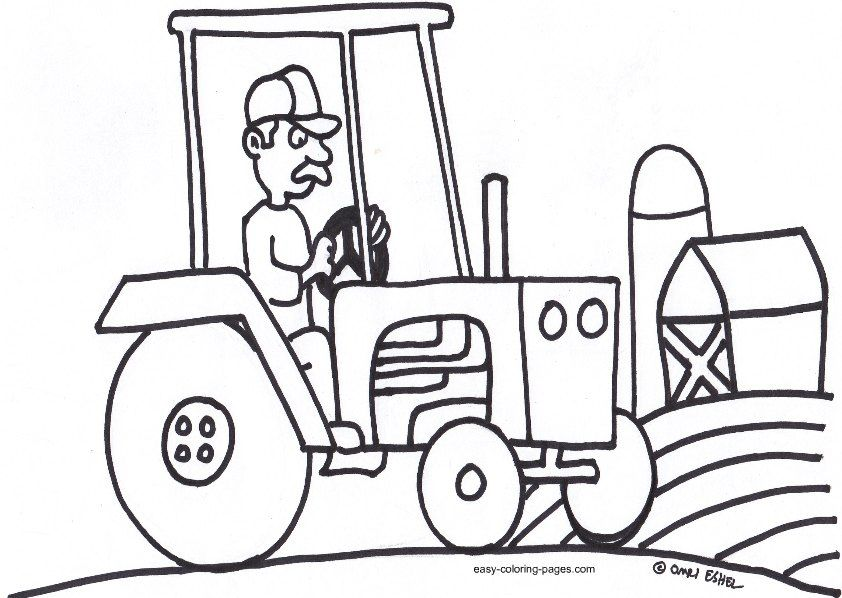 coloring pages tractors trucks - photo#10