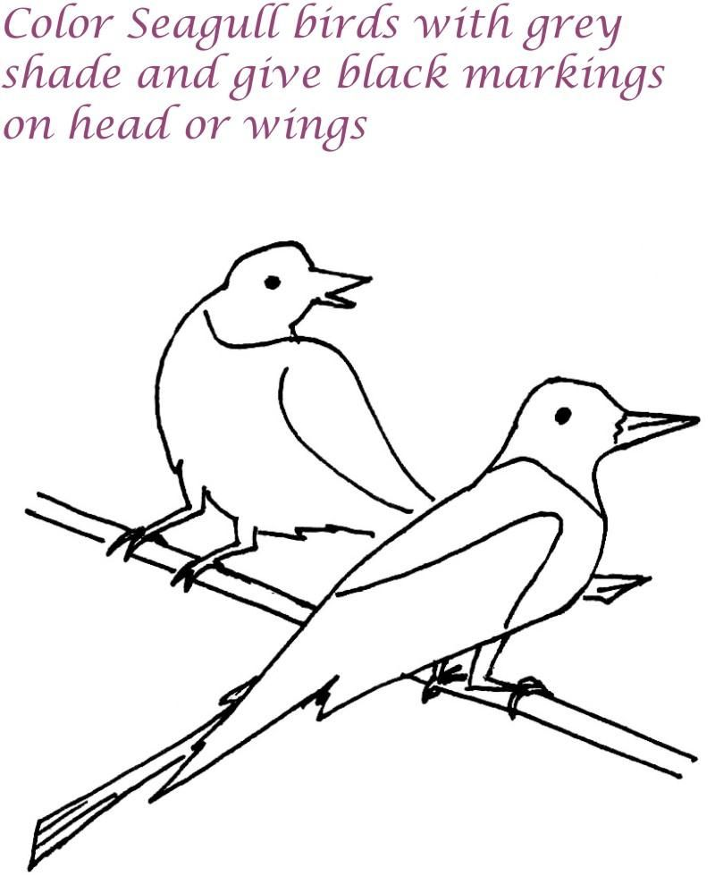 Seagull Coloring Page  Coloring Home