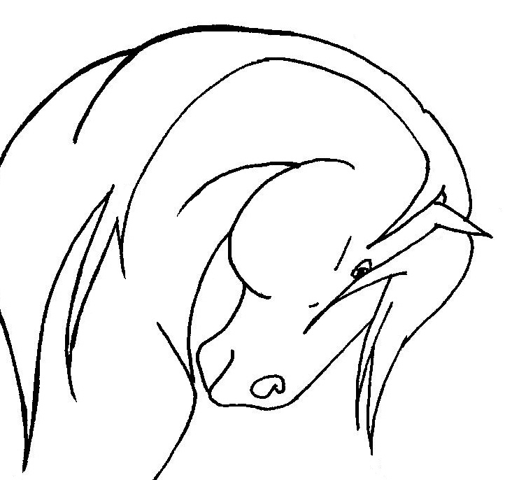 horse head coloring pages printable - photo#15