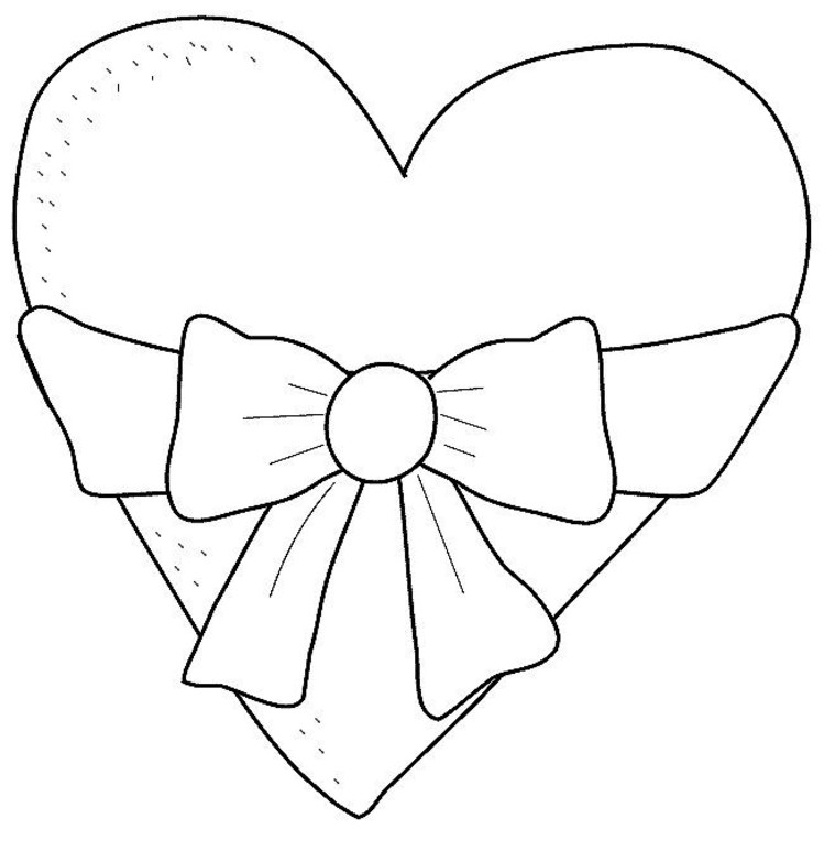 Heart Coloring Pages For Girls - AZ Coloring Pages