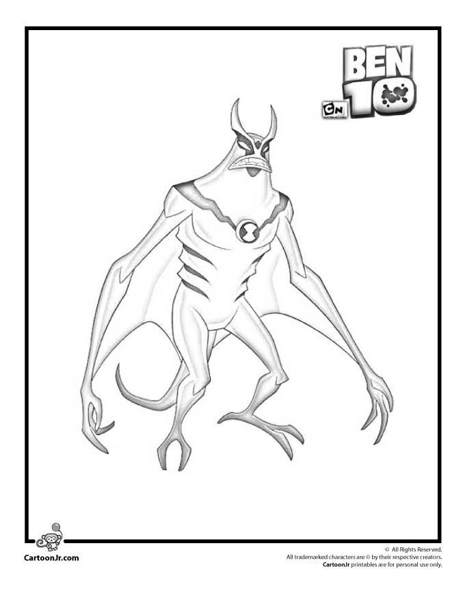 Ben Ten Ultimate Alien Coloring Pages Home