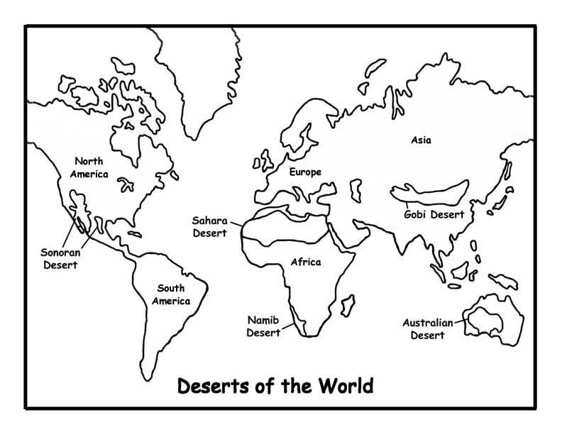 Deserts Of The World Coloring Page Exploring Nature Educational