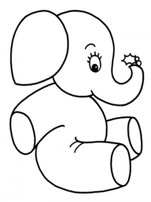Coloring Pictures Of Elephants Coloring Home