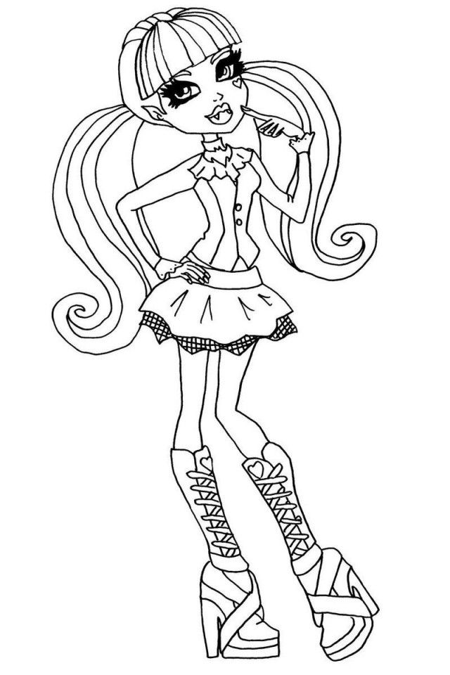 Dress Up Coloring Pages