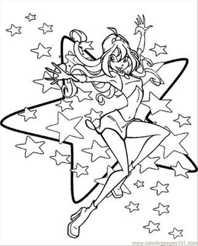 Winx Club Coloring Pages Kids Printables Tattoo