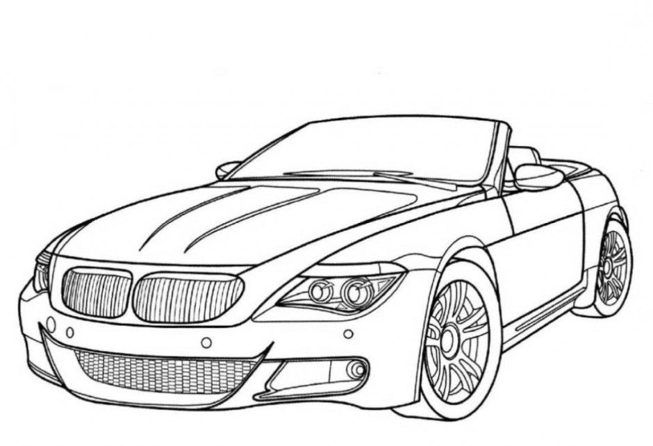 Antique Car Coloring Pages : Classic car coloring pages az