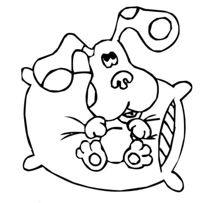 Blues Print Foot Blues Clues Coloring Page - TV Show Coloring