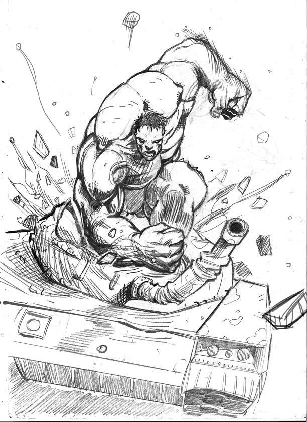 Hulk Drawings Coloring Home