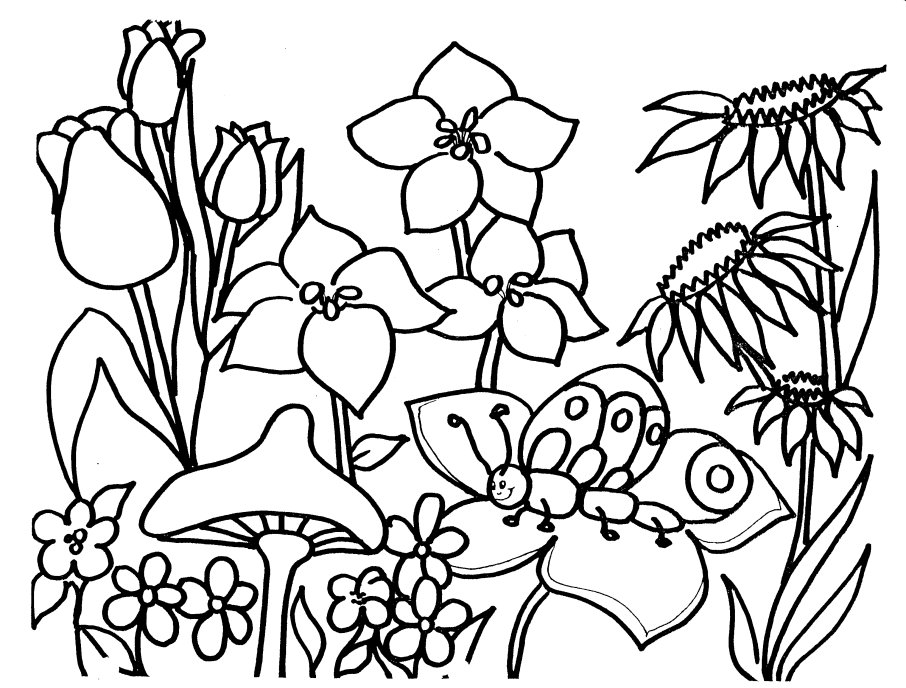 spring coloring pages detailed words - photo#13