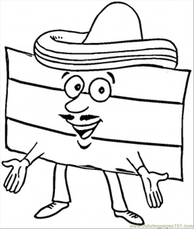 Spanish Flag Coloring Page Coloring Home