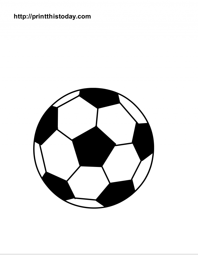 graphic relating to Soccer Ball Printable referred to as Printable Football Balls - Coloring Residence