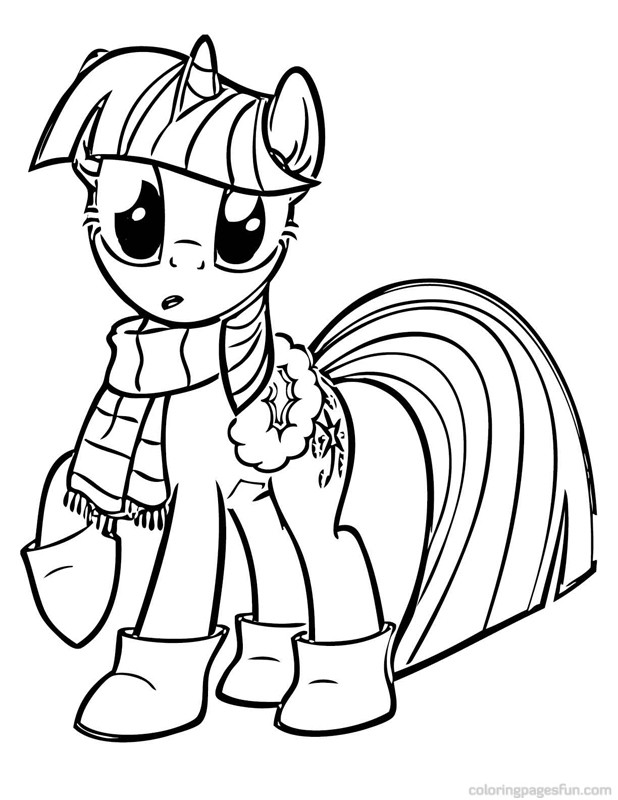 My Little Pony With Wings Coloring Pages : My little pony coloring pages twilight sparkle with wings