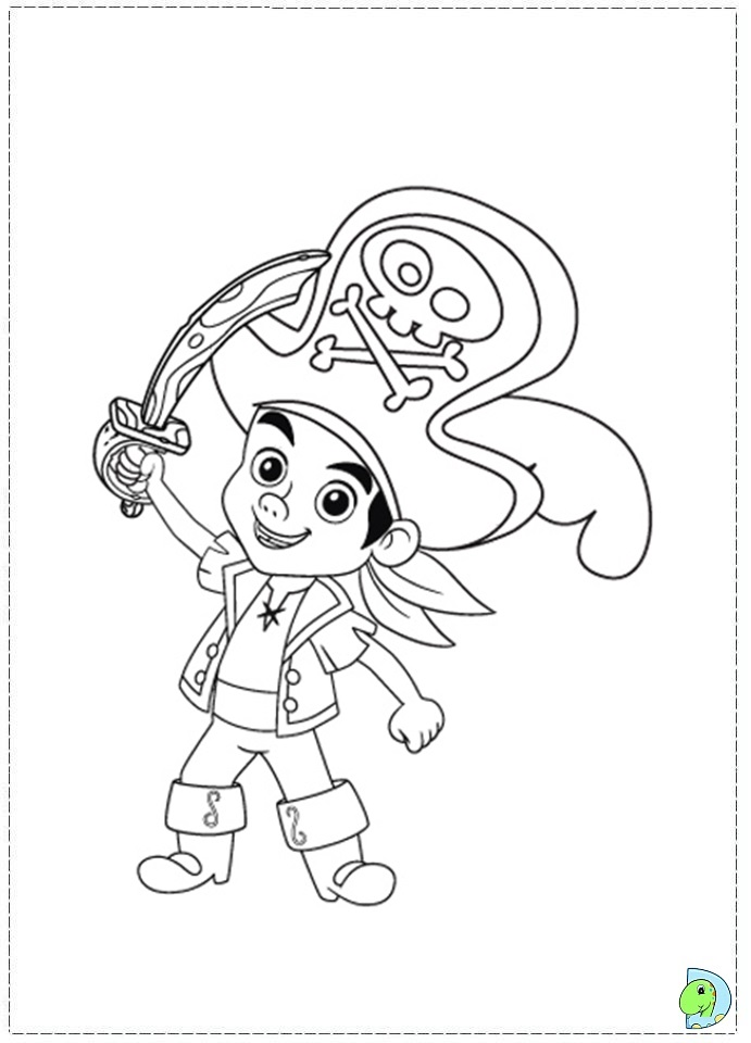 Jake and the neverland pirates color pages az coloring pages for Jake and the pirates coloring pages