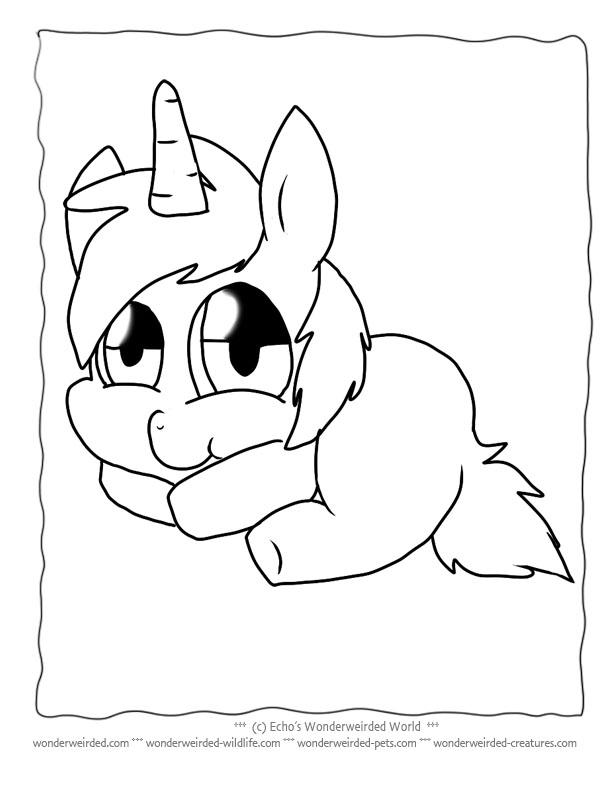 baby animal coloring pages unicorns - photo #6