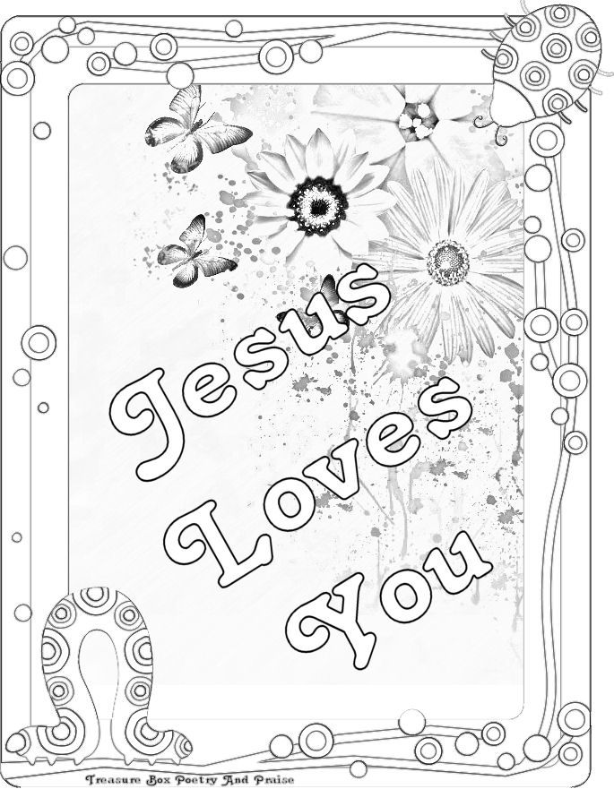 jesus loves me coloring pages - photo#32