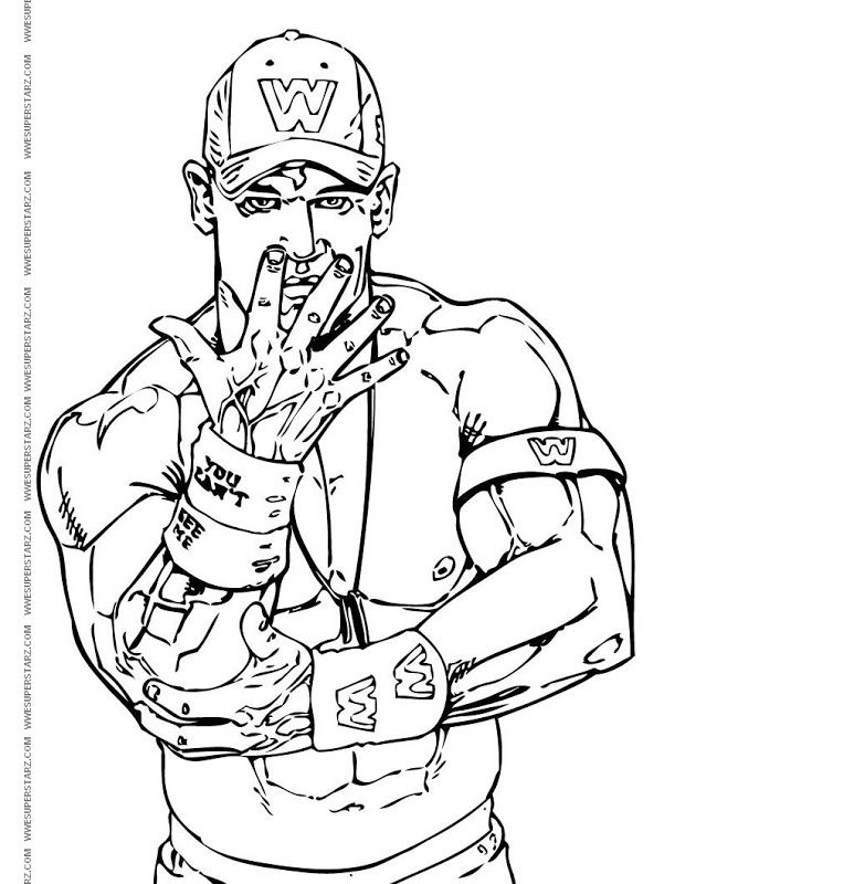 John Cena Coloring Page Coloring Home Cena Coloring Page
