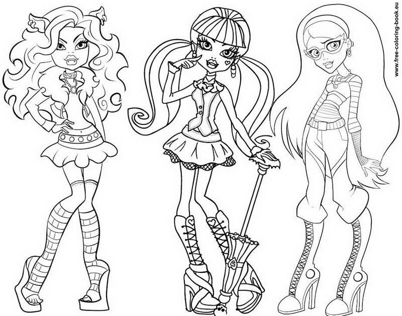 Images Of Monster High Characters Coloring Pages - Coloring Home