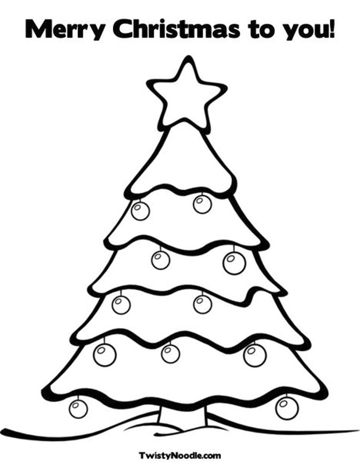 Coloring Pages Of Christmas Trees - Coloring Home