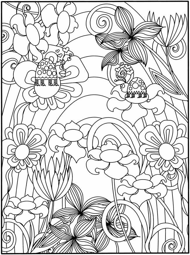 Flower Garden Coloring Pages - Coloring Home
