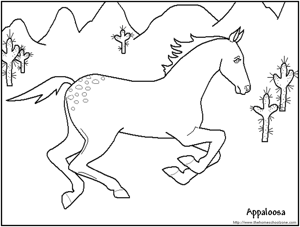 Horse Coloring Pages Kids - Coloring Home