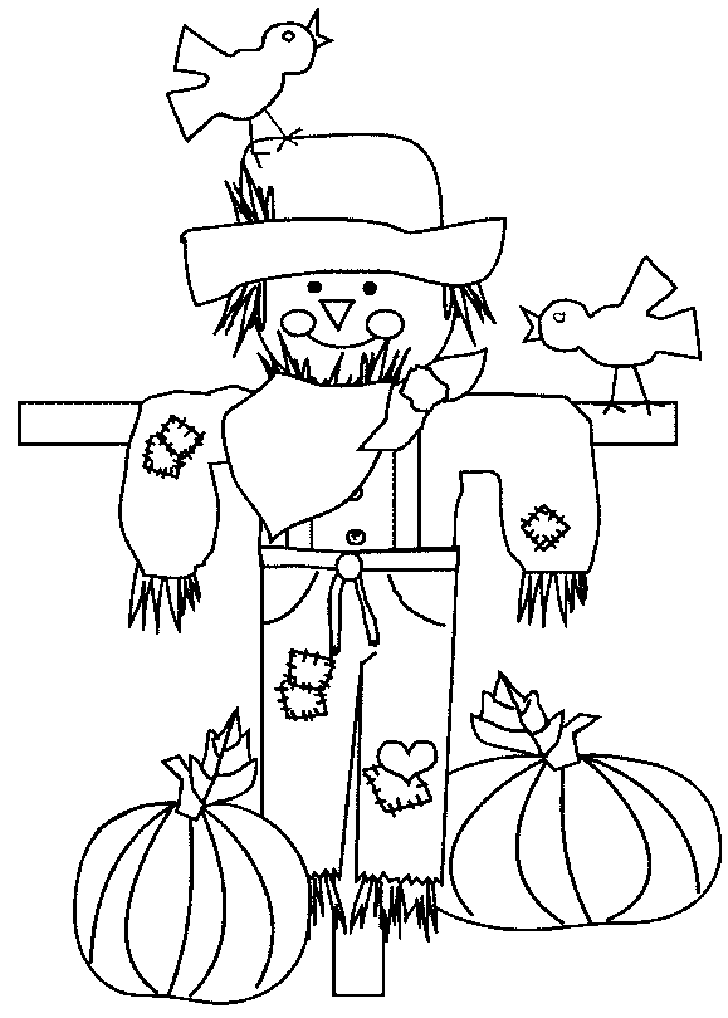 Thanksgiving Scarecrow Coloring Pages Printables Picture 2