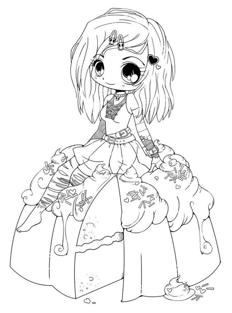 chibi anime coloring pages 7211024 coloring ws
