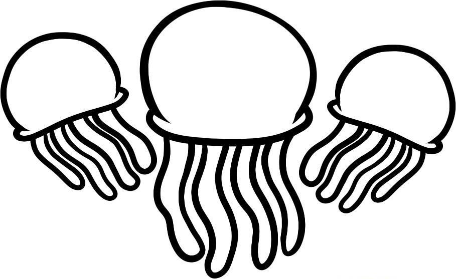 Jelly Fish Coloring Pages Coloring Home Jellyfish Coloring Page