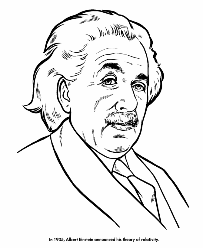 Albert Einstein Az Coloring Pages Einstein Coloring Pages