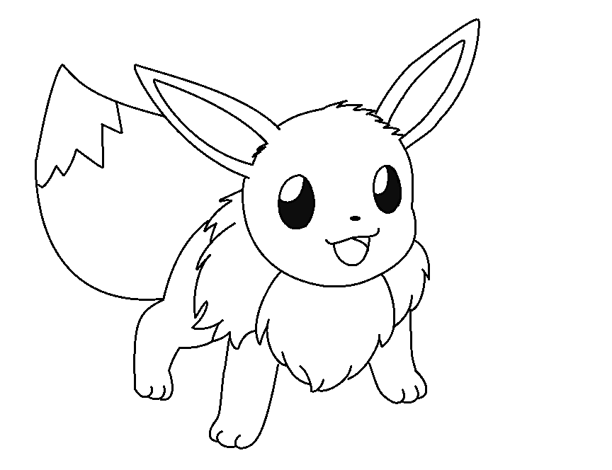 Pokemon Coloring Pages Eevee Evolutions Homerhcoloringhome: Cute Eevee Coloring Pages At Baymontmadison.com