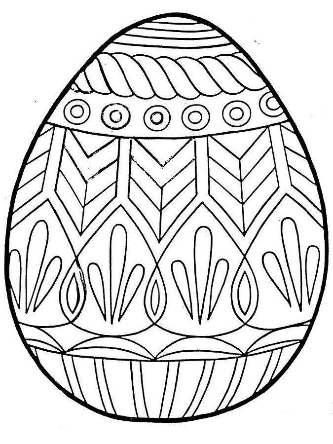Free Printable Easter Egg Coloring Pages - Coloring Home
