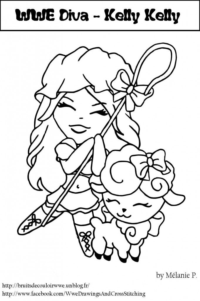 Wwe divas coloring pages to print coloring pages for Diva coloring pages