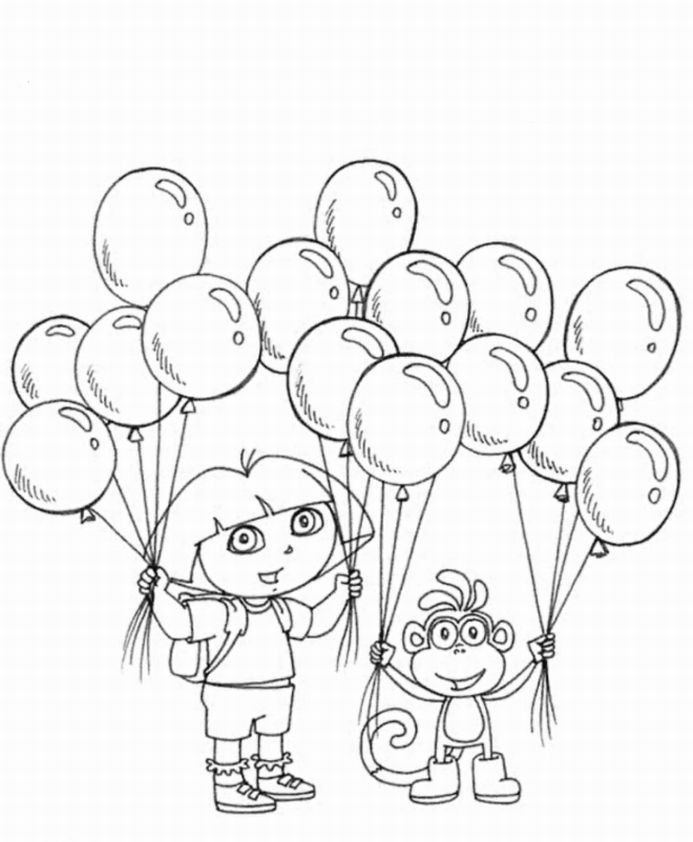 colouring pages princesses free printable dora the explorer - Dora Explorer Coloring Pages Free Printable