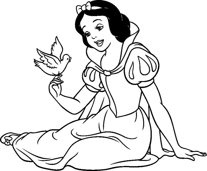 snow white coloring pages free - photo#12