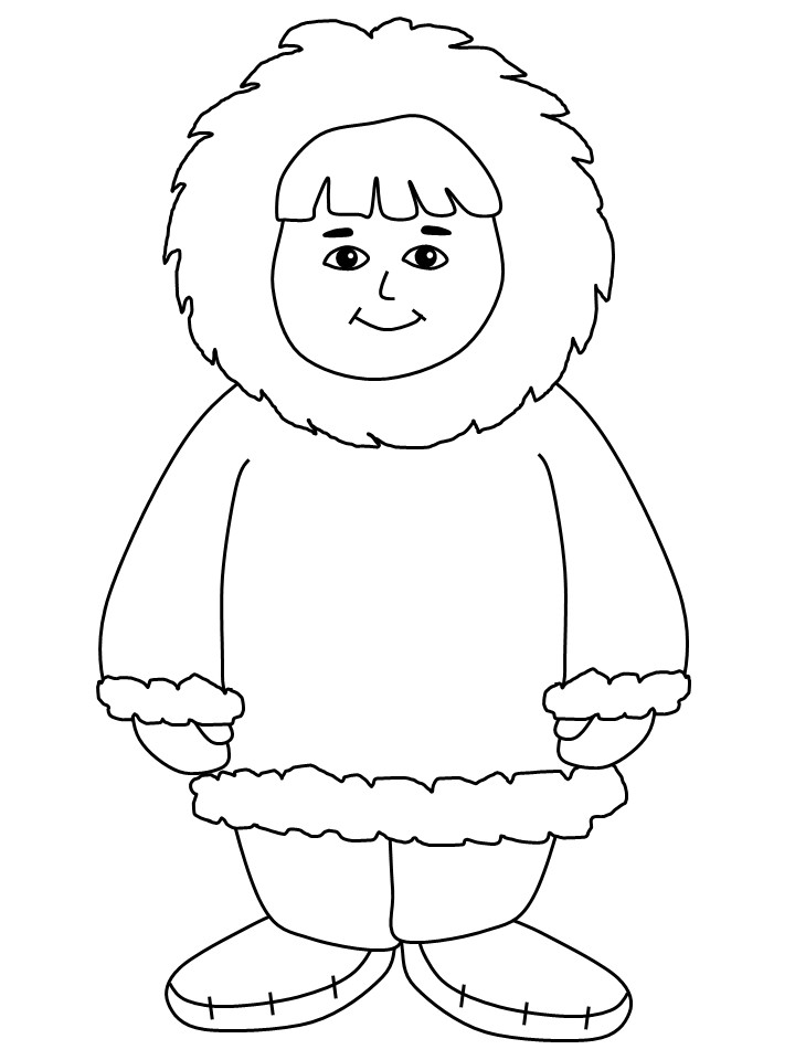 eskimo coloring page eskimo coloring page az coloring pages
