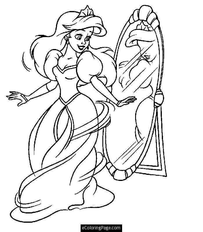 Printable Coloring Pages Princess Ariel Coloring Books and etc