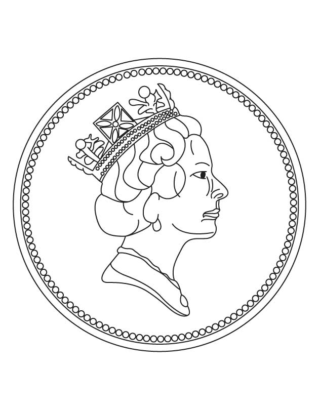 free coin coloring pages - photo#1
