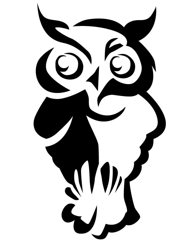 Free Owl Template Owl Free Printable Coloring