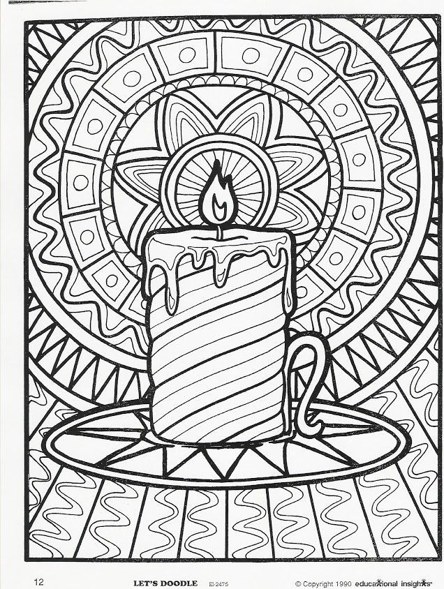 christmas art coloring pages - photo#43