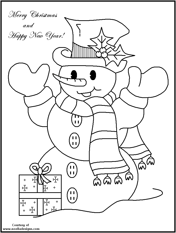 snowman free coloring pages - photo#6