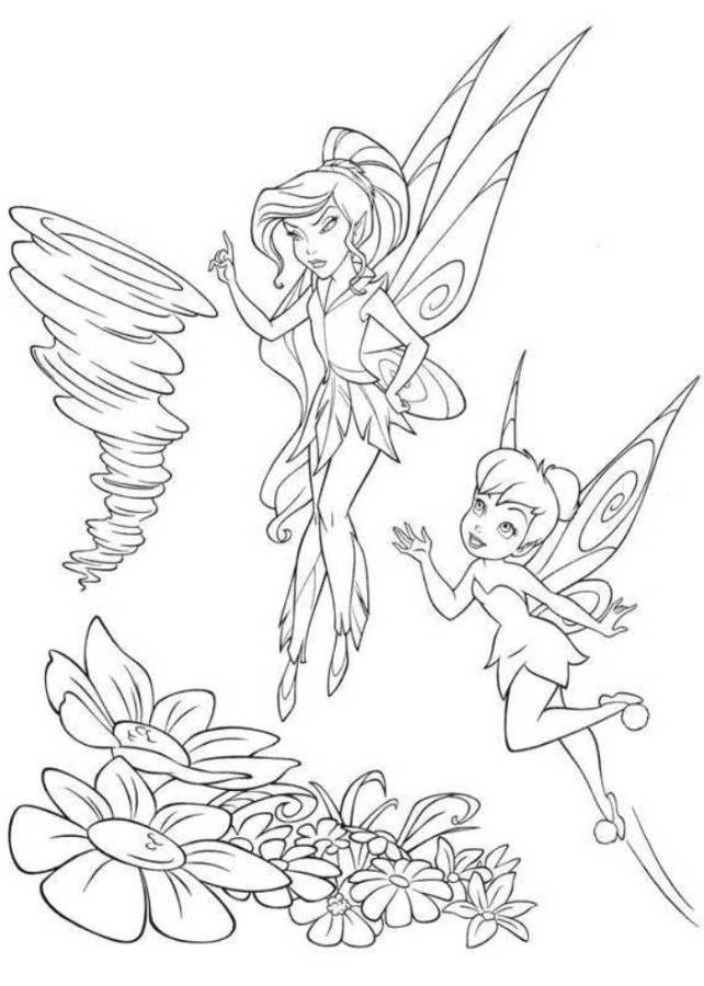 Vidia Tinkerbell Drawing Print Vidia And Tinkerbell