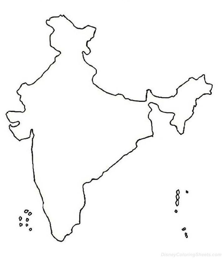 Line Art Map : India map drawing