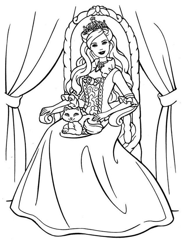 barbie coloring pages full size - photo#4