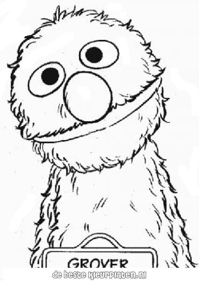 Sesame street coloring pages az coloring pages for Grover sesame street coloring pages